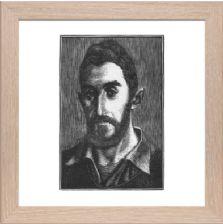 Portrait of Jacques Raverat 1 block 2 Signed - Ready Framed